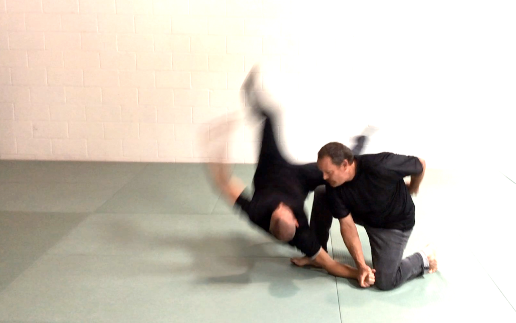 Injury Dynamics - groin strike + body weight = head trauma